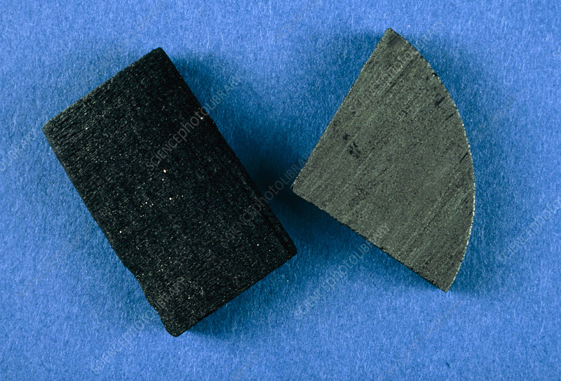 Graphite, soft slippery, form of carbon