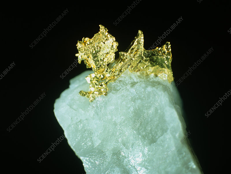 Native gold crystals.