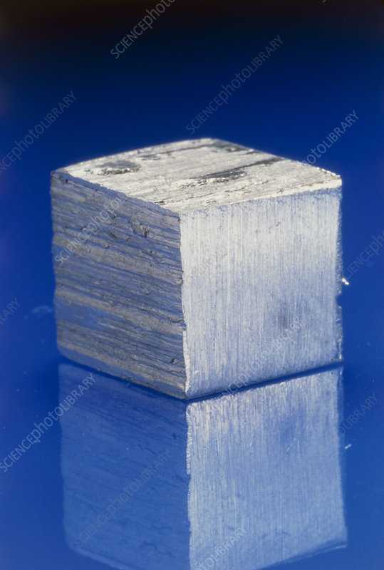Block of aluminium metal
