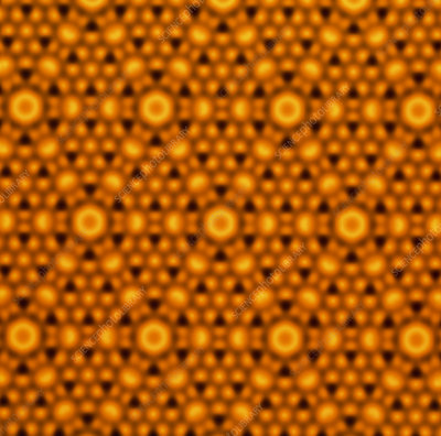 Atomic surface of a silicon crystal