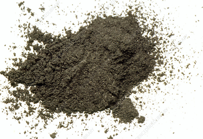 View of a pile of carbon powder