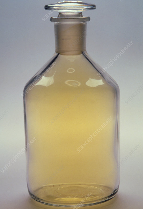 Bottle of chlorine gas