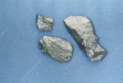 View of pieces of silicon