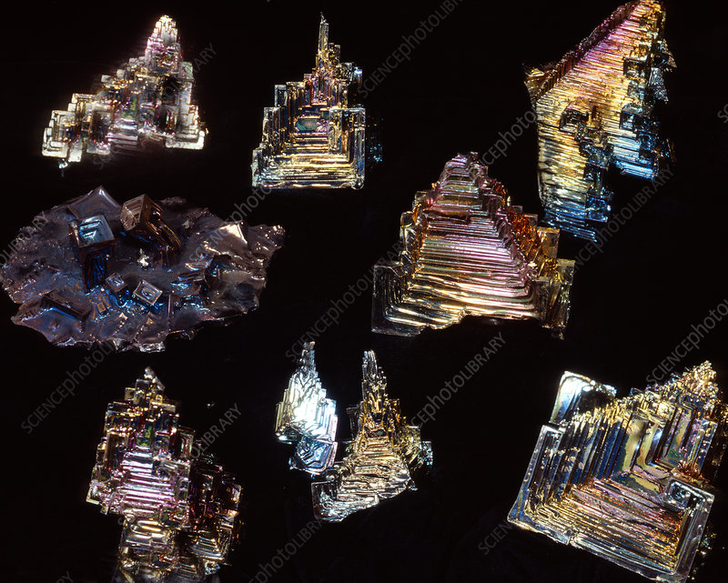Artificial bismuth crystals