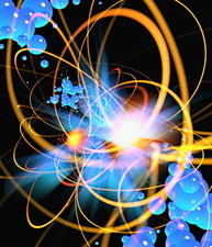Subatomic particles abstract
