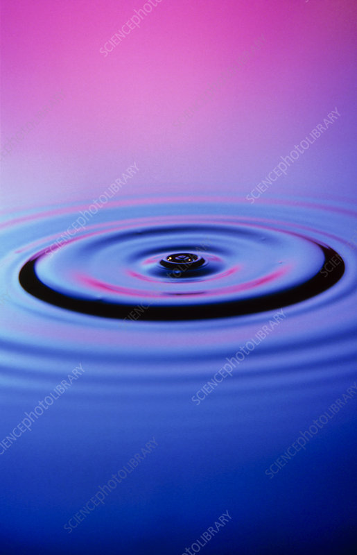 Ripples from water drop
