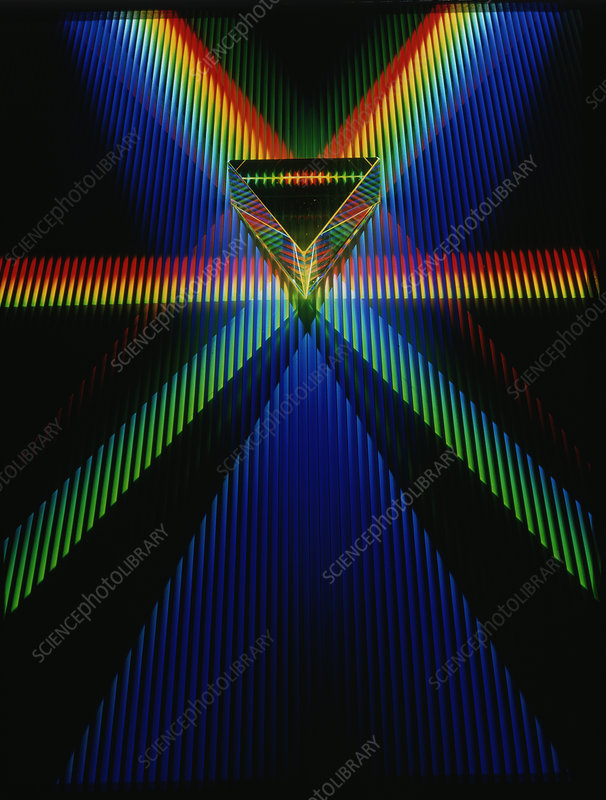 Multiple refraction and reflection from prism