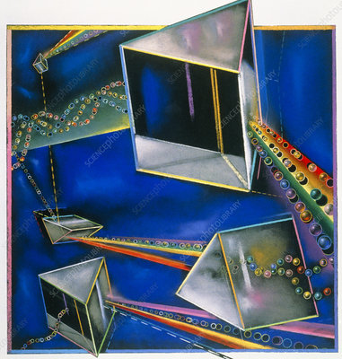 Artwork of refracting light and prisms