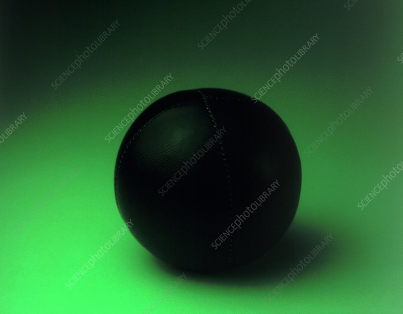 Red ball under green light