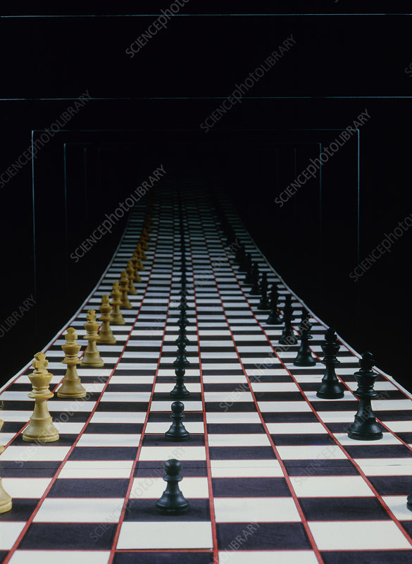 Infinite image of a chessboard