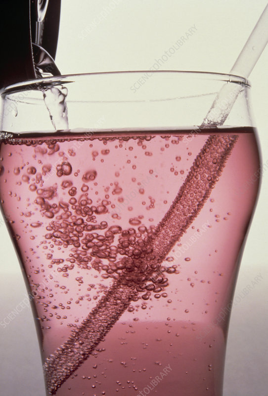 Refraction of image of straw in drink
