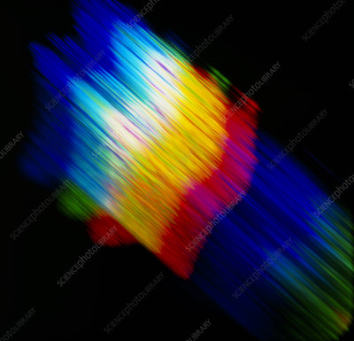 Abstract pattern with diffracted light