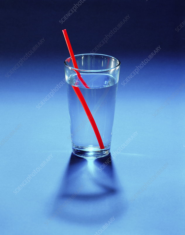 refraction   stock image a205 0088   science photo library