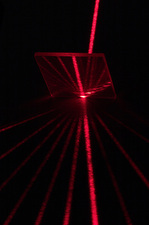 Laser Beam Split By Diffraction Grating