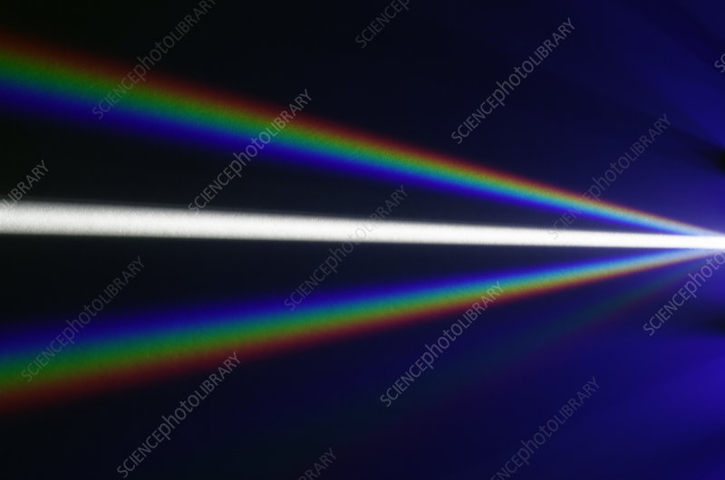 White Light Dispersed By Diffraction Grating