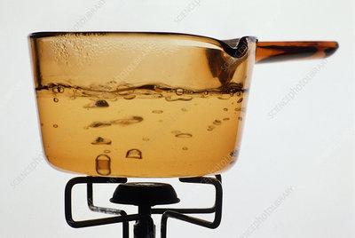 Pan of boiling water