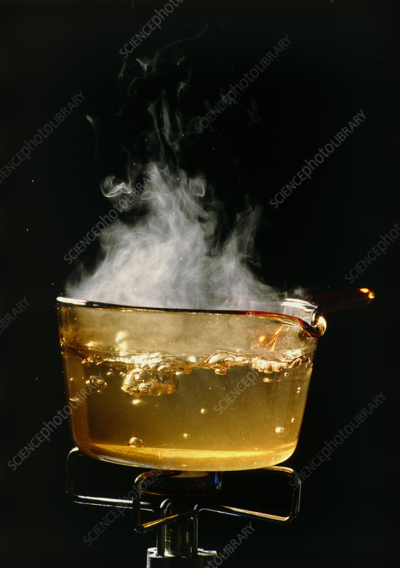 Pan of boiling water