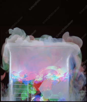 Sublimation (vaporisation) of dry ice