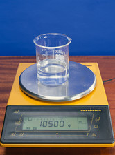Salt solution on scales