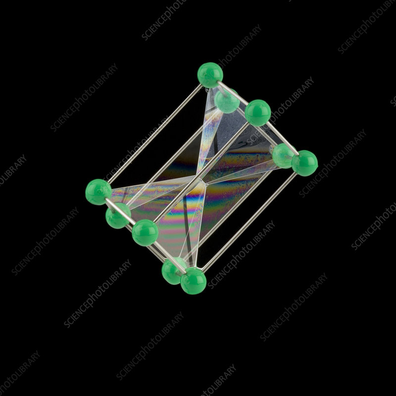 Soap bubbles on a pentagonal prism frame
