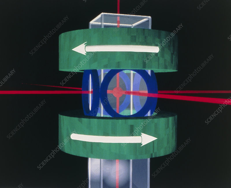 Laser trap making new state of matter - Stock Image A400 ...