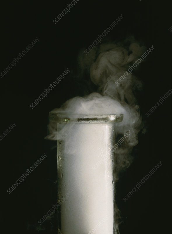 Carbon dioxide vapour diffusing from jar