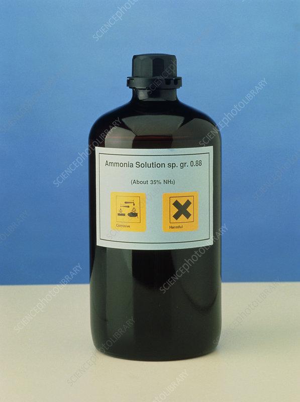bottle of ammonia solution  0195