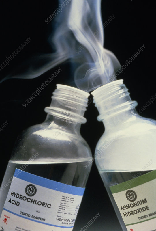 Formation of ammonium chloride fog