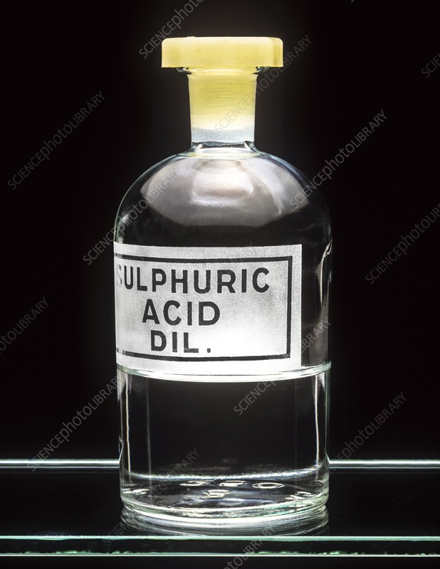 Used Car Batteries >> Sulphuric acid - Stock Image A500/0244 - Science Photo Library