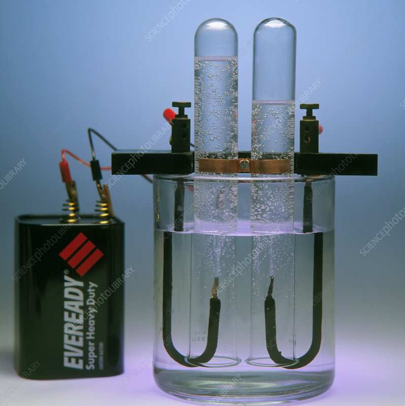 Electrolysis Of Water Stock Image A500 0247 Science