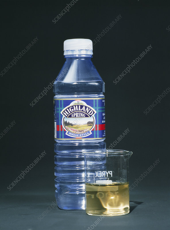 Water with indicator