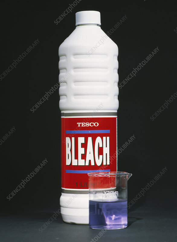 Bleach with indicator