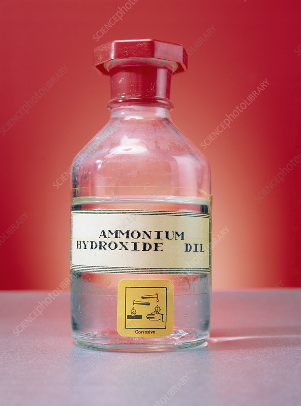 Ammonium Hydroxide In Bottle Stock Image A500 0460