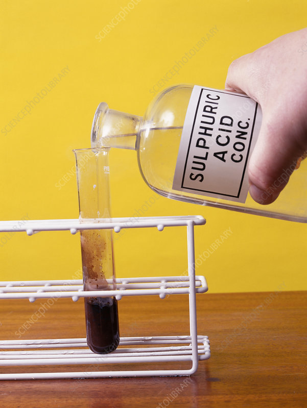 Sulphuric acid reaction