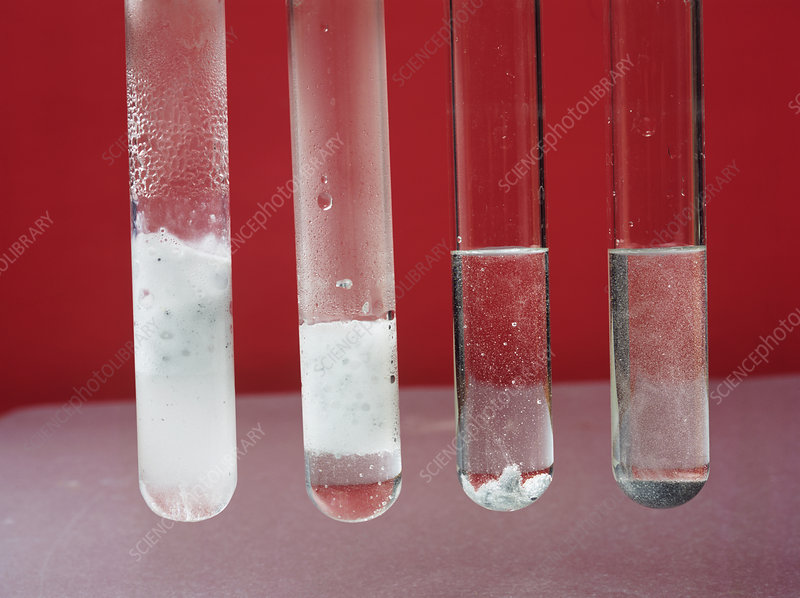 Dilute hydrochloric acid reactions