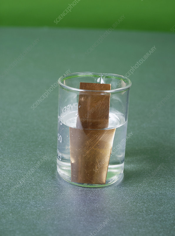 Copper sheet in zinc solution