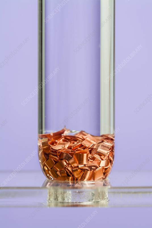Copper in hydrochloric acid