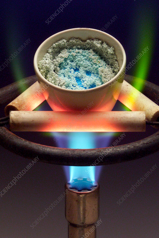 Copper(II) sulphate Being Heated