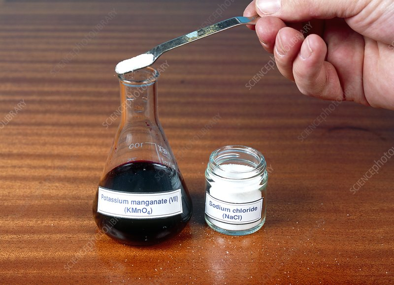 Potassium manganate experiment