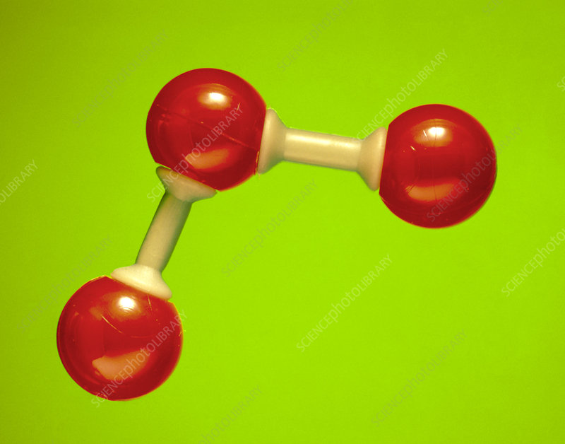 Model of a molecule of ozone
