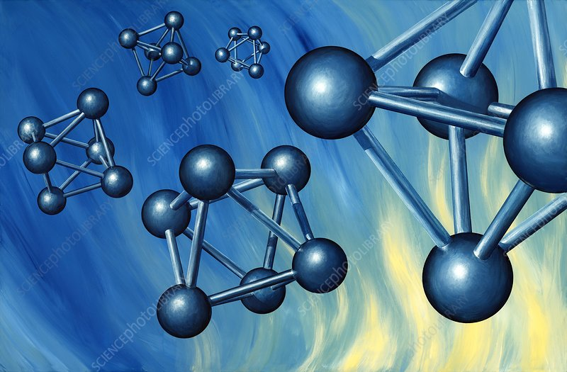 Octahedral molecular models, artwork