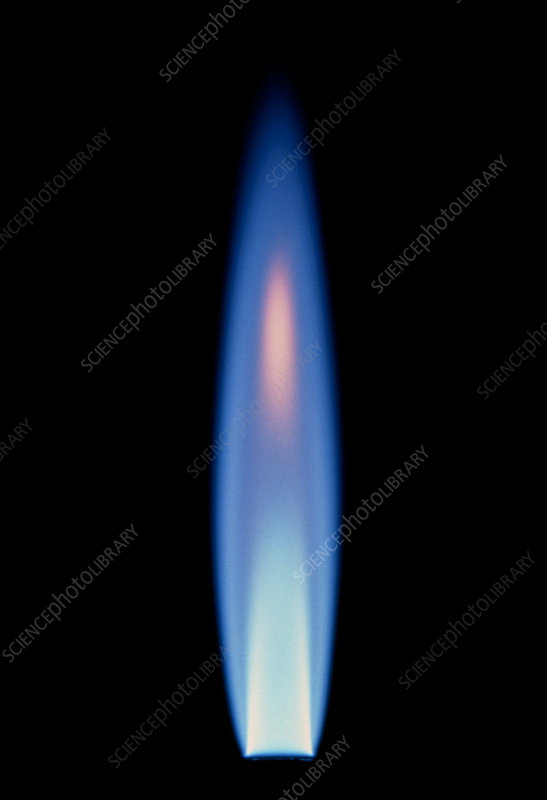 Propane gas flame from a bunsen burner