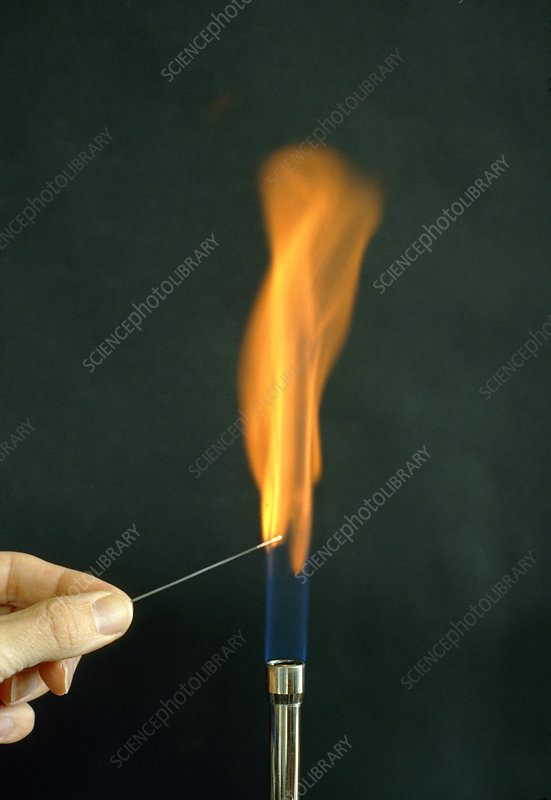 Performing a calcium flame test