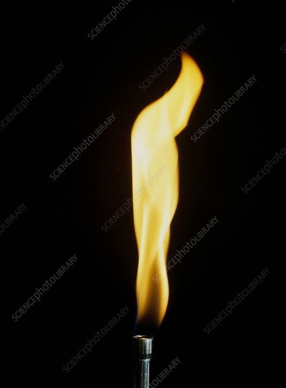 Gas flame of a Bunsen burner