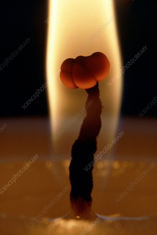 Close-up of the flame of a candle