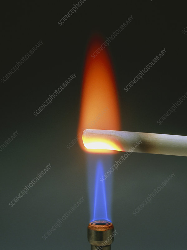 Performing a calcium flame test on chalk