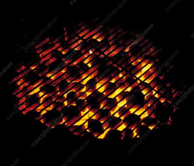 Glowing barbecue