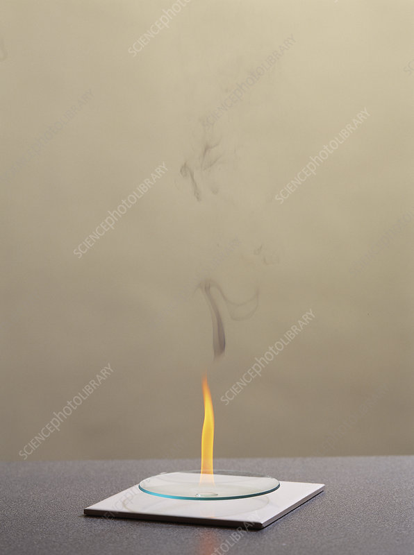 Combustion of an alkene - Stock Image - A510/0220 - Science Photo