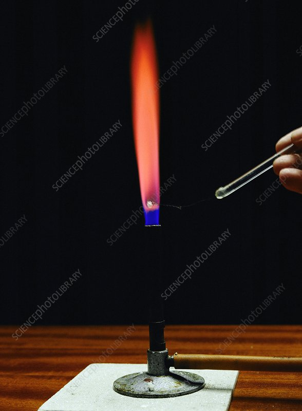 Strontium flame test