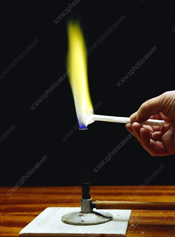 Flame test on sodium